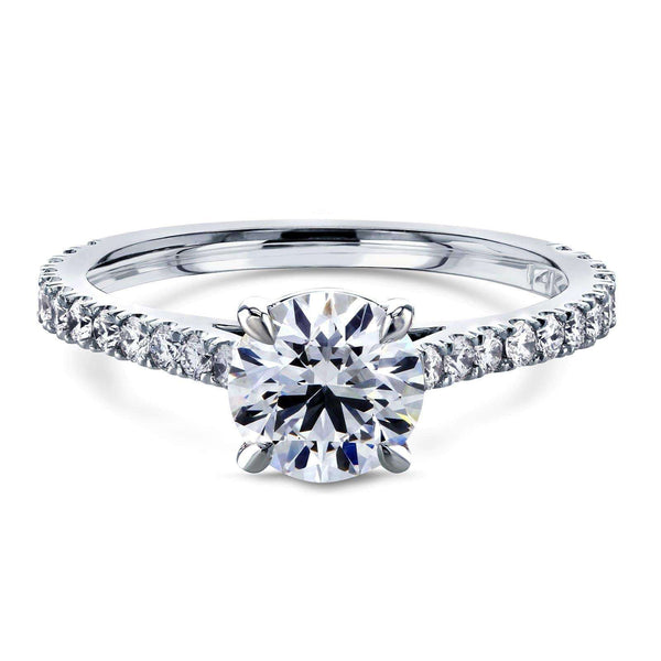 Kobelli Round 1ct Diamond Peg Cathedral Ring 62640R-1E/4.5W