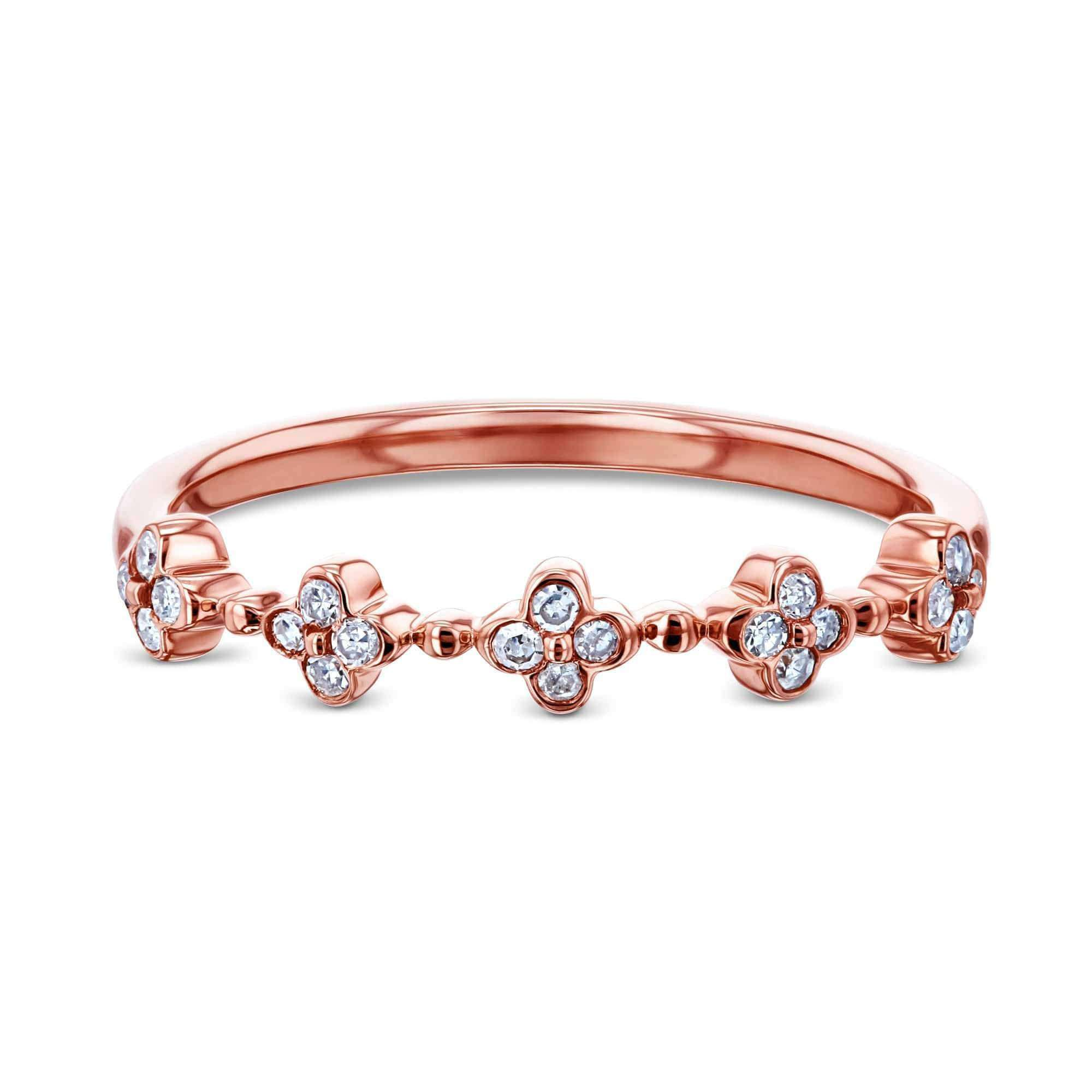 Quad Cluster Diamond Pattern Band