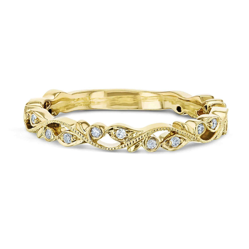 Kobelli Diamond Floral Vine Filigree Gold Ring