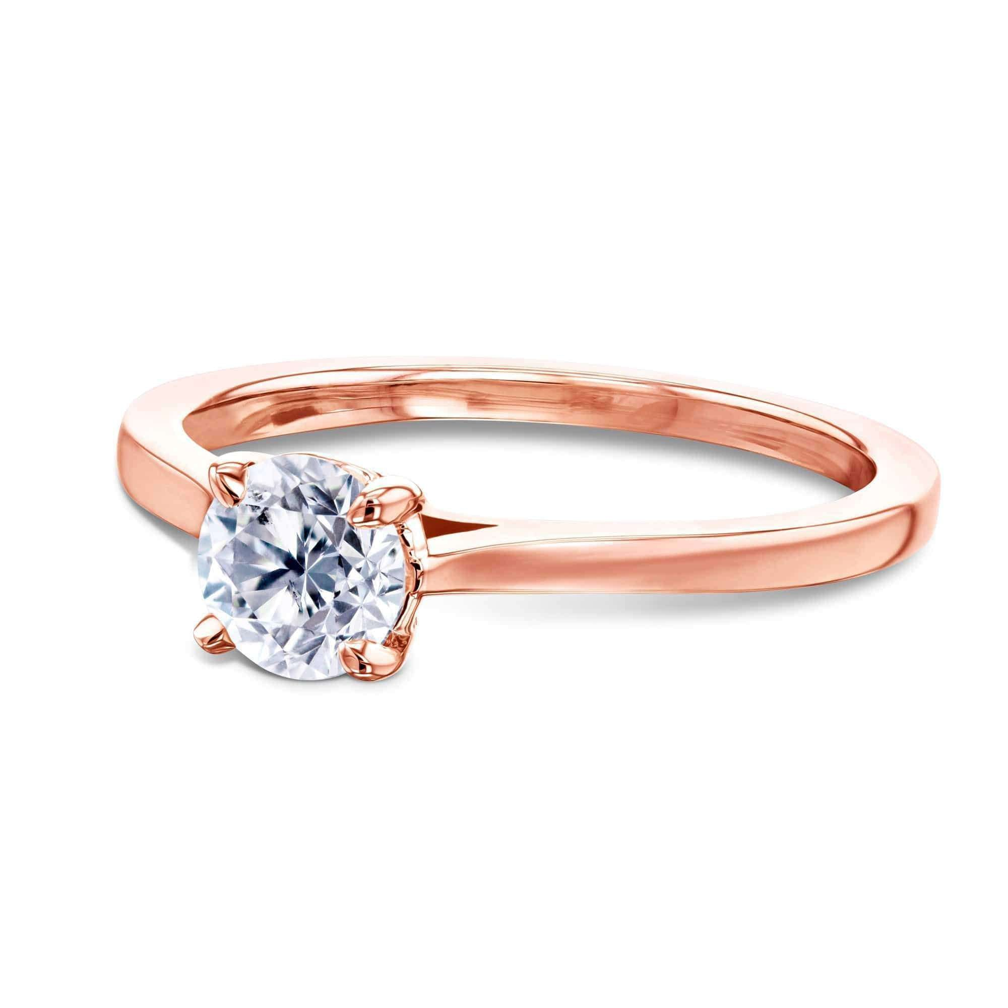 Reviews 1/2ct Round Diamond Solitaire Ring - rose-gold 5.5