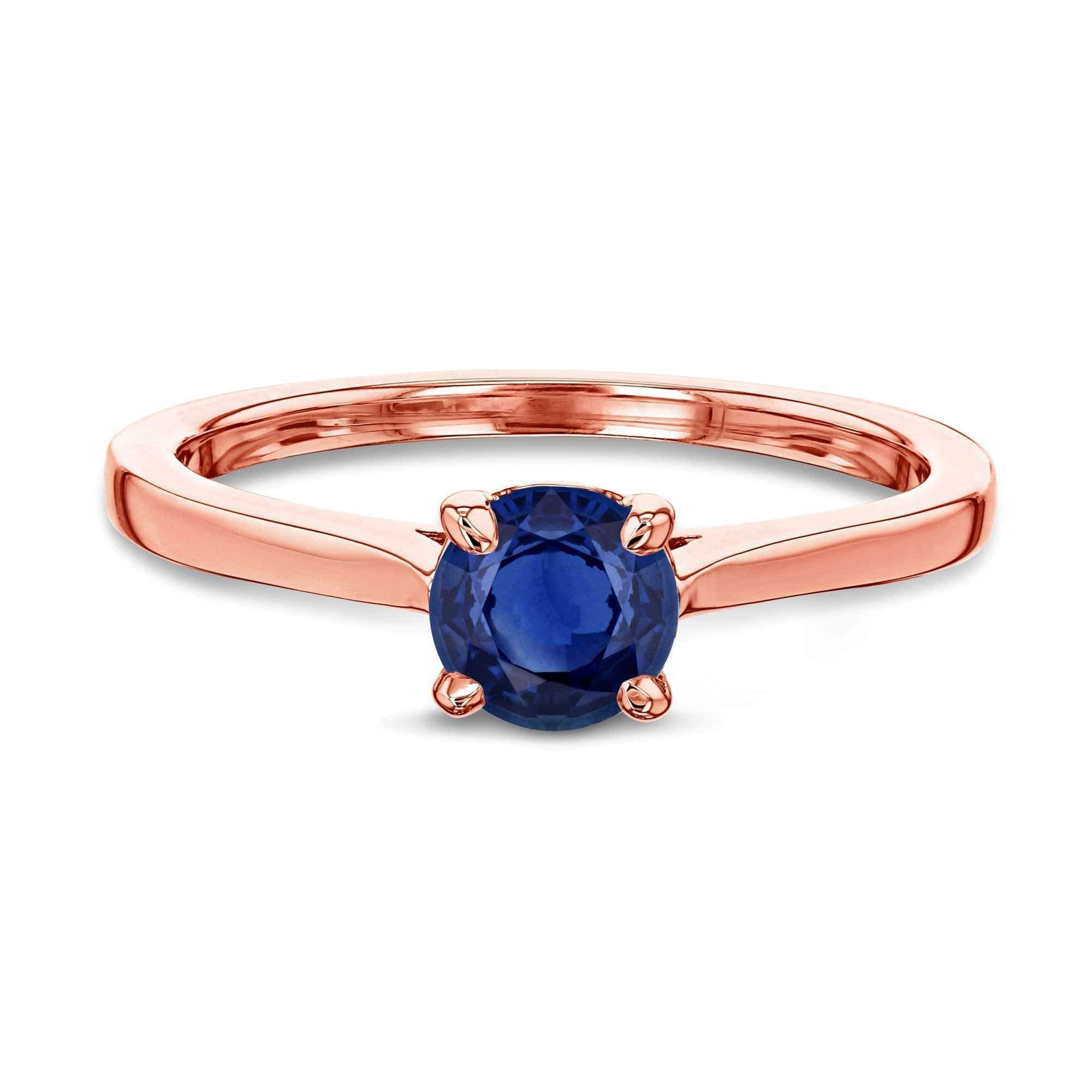 Coupons 5mm Blue Sapphire Ring - rose-gold 10.5