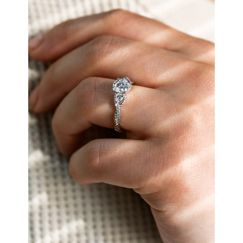 Kobelli 3 Stone Diamond Engagement Rings