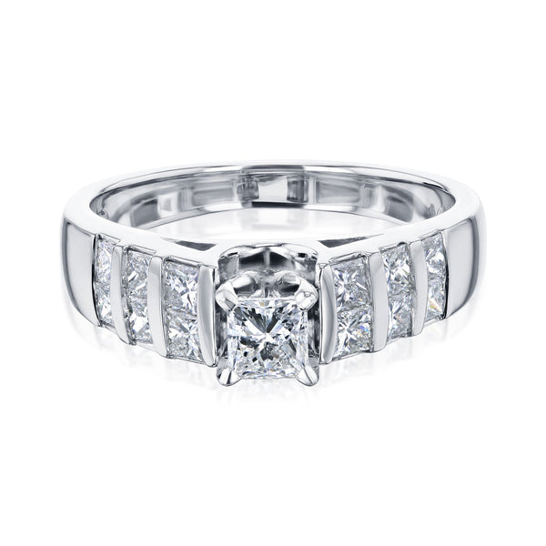 Kobelli Vertical Channel Diamond Ring