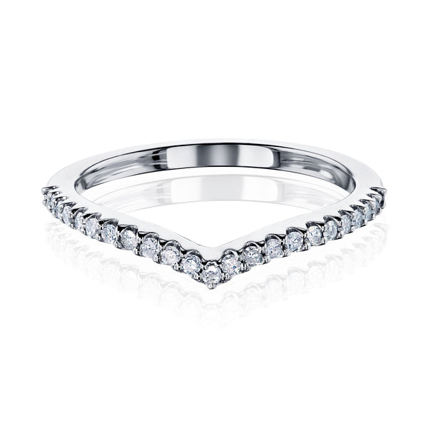Kobelli The Slim Chevron Diamond Band