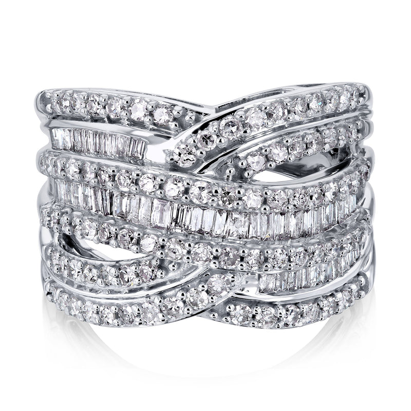 14mm Multi Diamond Network Ring