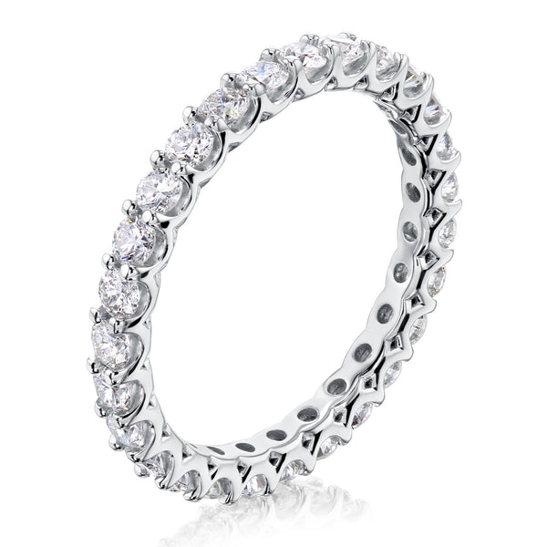 Kobelli 1 CTW Deep U-Prong Natural Diamond Eternity Wedding Band in 14k Gold