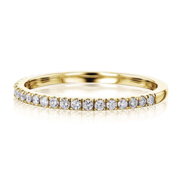 Kobelli Scalloped Pave Diamond Wedding Ring
