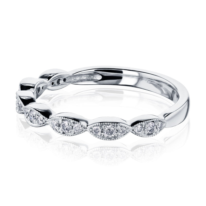 Kobelli Scallop Diamond Band