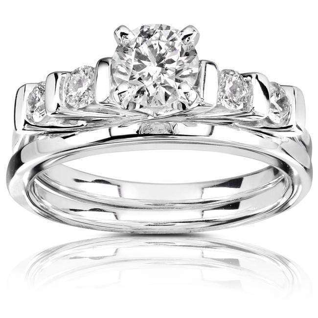 Kobelli Round Diamond Wedding Set 3/4 carat (ctw) in 14k White Gold