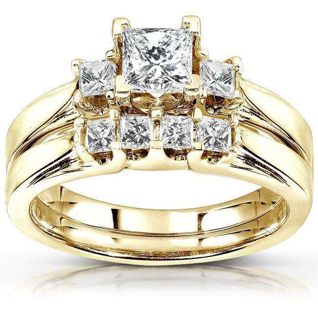 Kobelli Diamond Wedding Set 7/8 carat (ctw) in 14K Yellow Gold