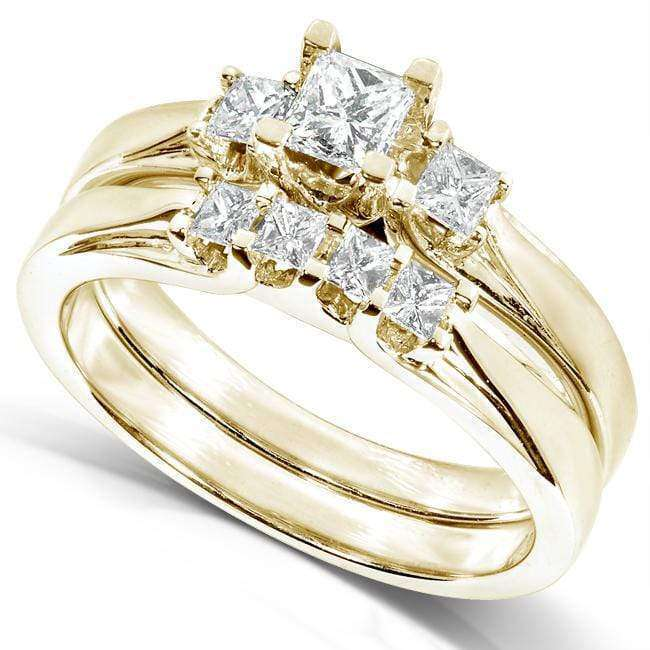 Kobelli Diamond Wedding Set 1/2 carat (ctw) in 14K White or Yellow Gold 6333LG/4.5Y