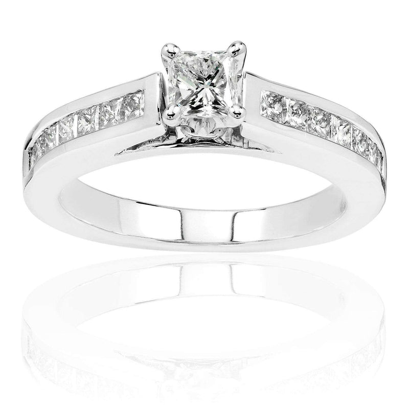 Kobelli Diamond Engagement Ring 1 Carat (ctw) in 14K White Gold