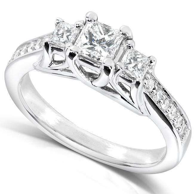 Kobelli Diamond Engagement Ring 5/8 carat (ctw) in 14k White Gold