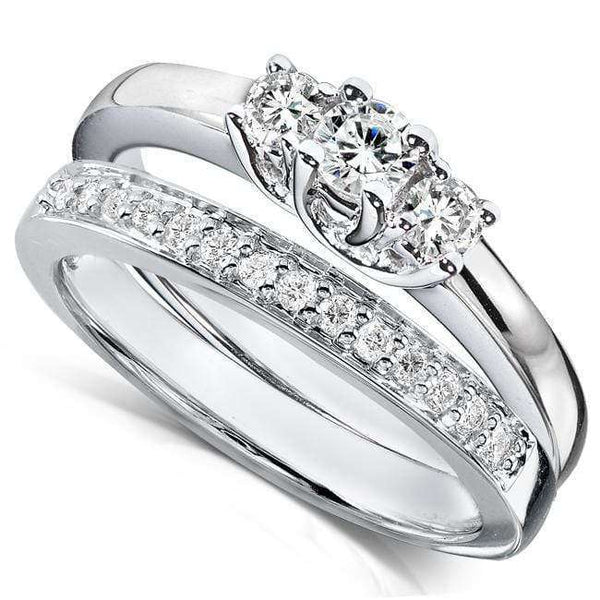 Kobelli Diamond Wedding Set 3/8 carat (ctw) in 14K White Gold