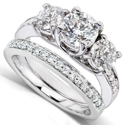 Kobelli Diamond Wedding Set 1 5/8 carats (ctw) in 14K White Gold