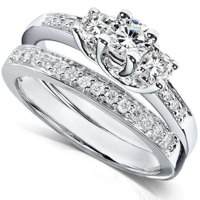Kobelli Diamond Wedding Set 5/8 carat (ctw) in 14K White Gold