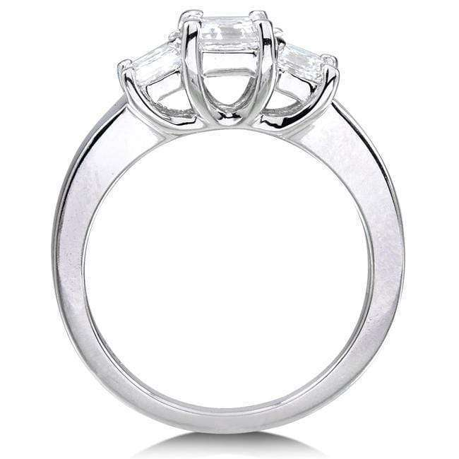 Kobelli Diamond Three-Stone Engagement Ring 1 1/2 carats (ctw) in 14K White Gold