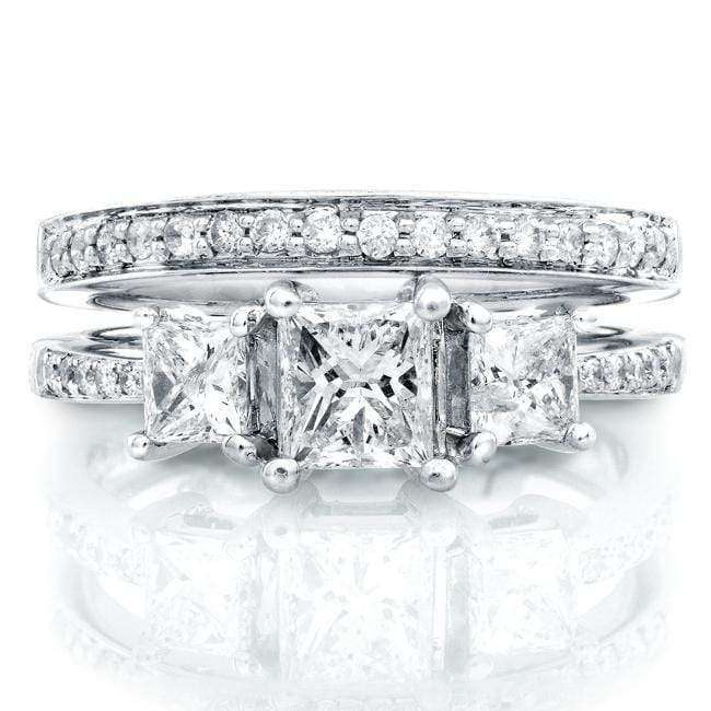 Kobelli Diamond Wedding Set 1 1/6 carats (ctw) in 14K White Gold