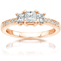 Kobelli Diamond Engagement Ring 1/2 carat (ctw) in 14K Gold 6769-50PV/4.5RG