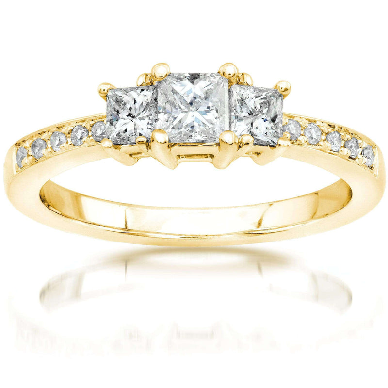 Kobelli Diamond Engagement Ring 1/2 carat (ctw) in 14K Gold 6769-50PV/4.5YG