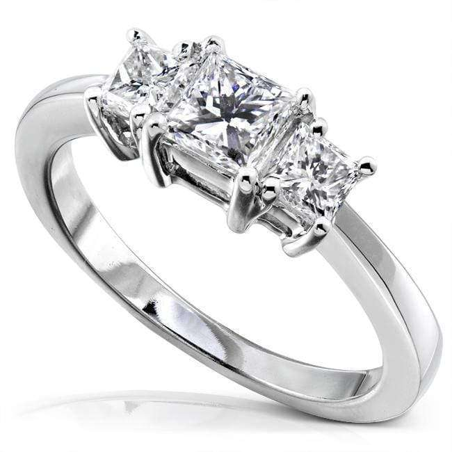Kobelli Diamond Three-Stone Engagement Ring 1 carat (ctw) in 14K Gold