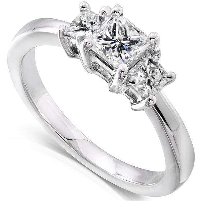 Reviews Diamond Three-Stone Engagement Ring 3/4 carat (ctw) in 14K Gold - white-gold 5.5