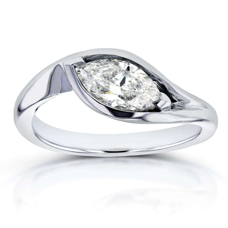 Kobelli Marquise-cut Diamond Ring 1.02 CTW in 14k White Gold (Certified)