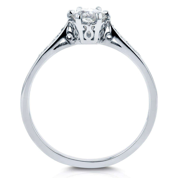 Kobelli Old Mine Cut Diamond Ring 1/2 CTW in 14k White Gold