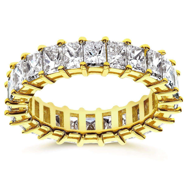Kobelli Princess Baguette Diamond Eternity Band 3 7/8 CTW in 14K Yellow Gold 71199X_4.5