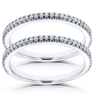 Kobelli Stackable Diamond Bands 1/3 carat (ctw) in 14K White Gold (2 Piece Set)