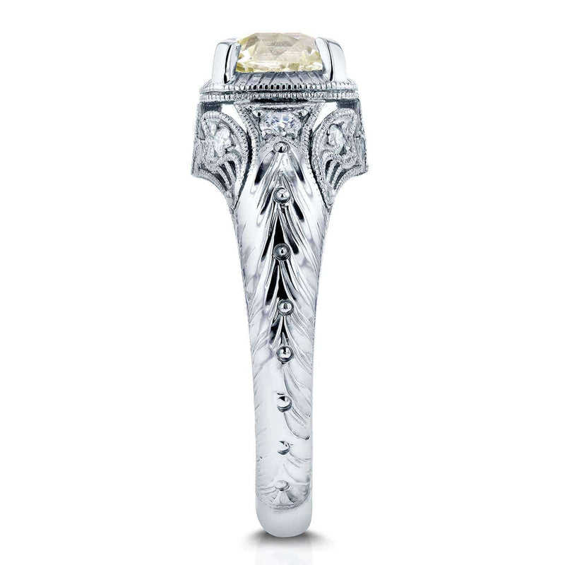 Kobelli Vintage Old Mine Cut Diamond Ring 1 1/2 CTW in Platinum (Certified) 71224X_7.0