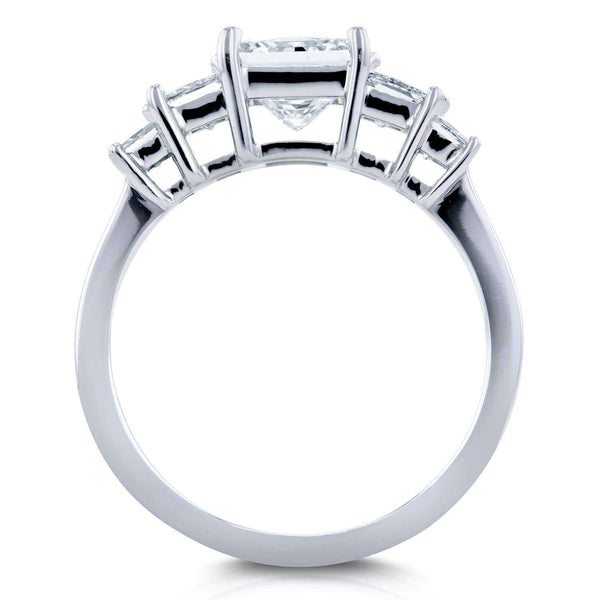 Kobelli Diamond Five-Stone Engagement Ring 2 CTW in 14K White Gold (Certified)