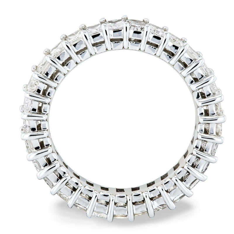 Kobelli Princess Baguette Diamond Eternity Band 2 7/8 CTW 18k White Gold  - Size 5.25 71305X/5.25W
