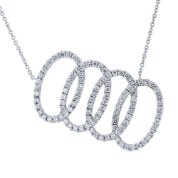 Kobelli Overlapping Ovals Slanted 5/8 CTW Diamond Necklace in Platinum 71322X