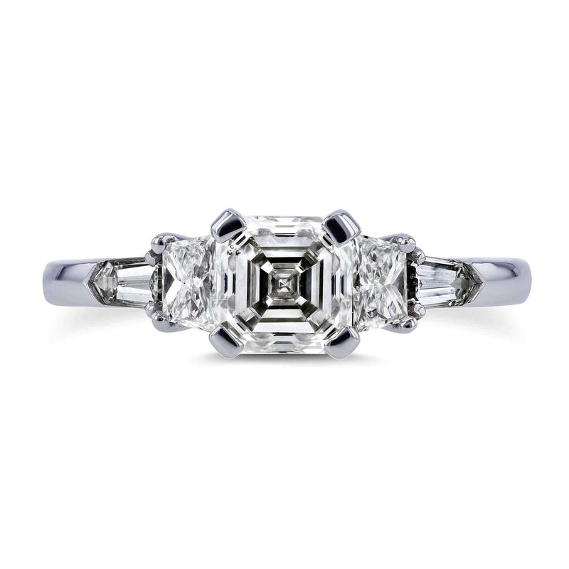 Kobelli Mixed Fancy Cut 5 Stone Diamond Ring 1 3/4 Carat TDW in Platinum (AGA Certified)