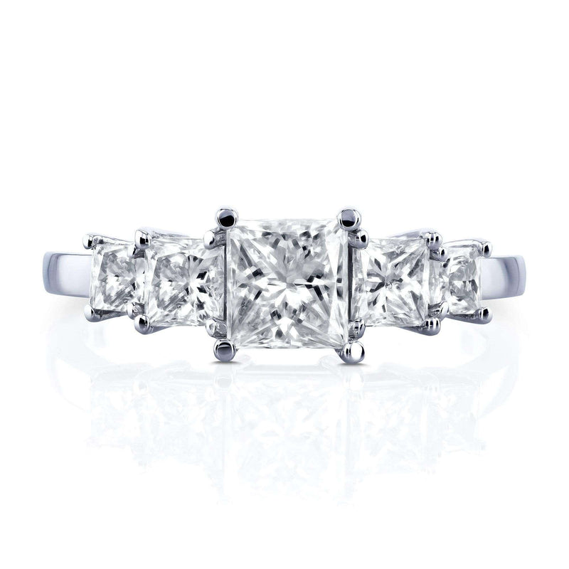 Kobelli Certified 14k White Gold 1 4/5ct TDW Five Stone Diamond Engagement Ring