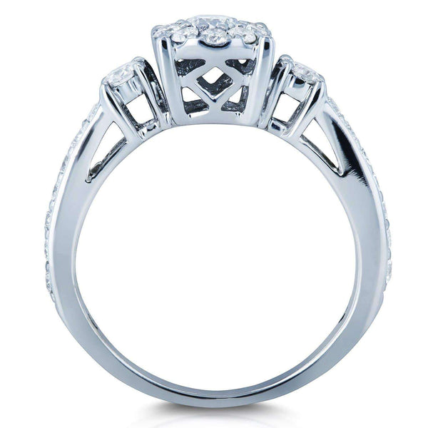Kobelli Multi Diamond Engagement Ring 5/8 CTW in 14K White Gold