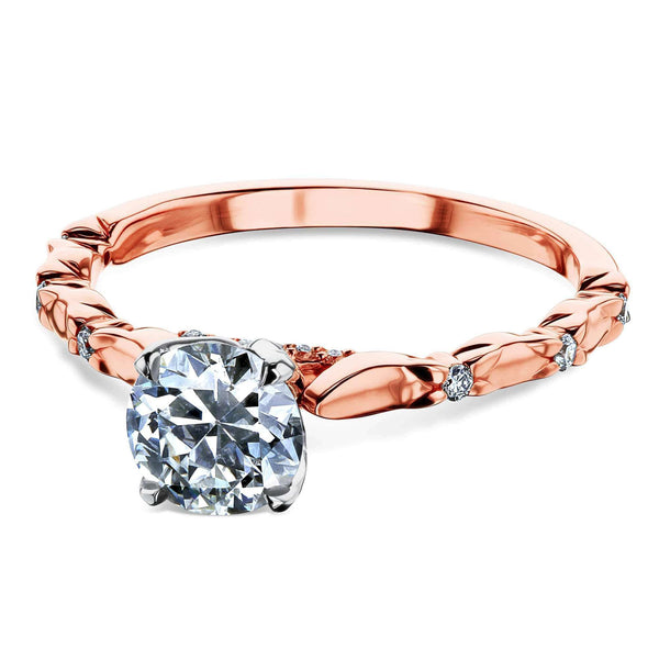 Kobelli Old Mine Cut Vintage Ring 18k Rose Gold (1 CTW)