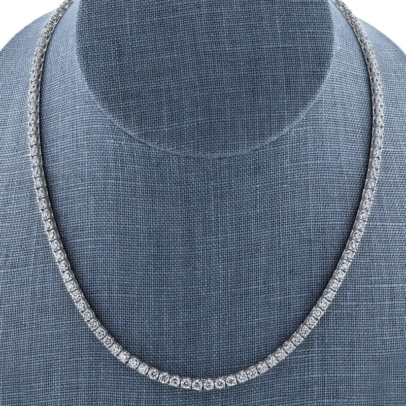 Kobelli One of a Kind 15 Carats TGW Moissanite Tennis Necklace in 18k White Gold 71505X