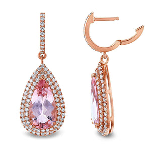 Kobelli Morganite Drop Earrings (5.9 CTW) 71529X/R