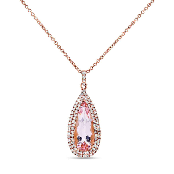 Kobelli Droplet Morganite 18k Necklace (3.64 CTW) 71530X