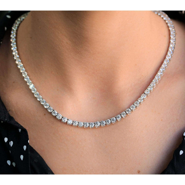 Kobelli Lab Grown Diamond 28.80 Carat Tennis Necklace (IGI Certified) 71532X