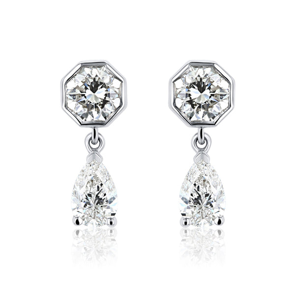 Kobelli The Gatsby Diamond Dangling Earrings