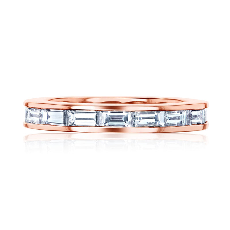 Kobelli Straight Baguette Eternity Band in Channel Setting