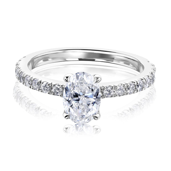 Kobelli Oval Diamond Engagement Ring