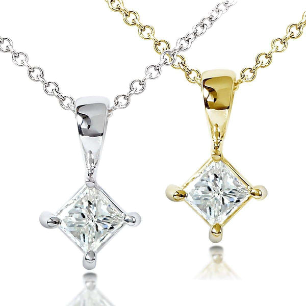 Kobelli Diamond Solitaire 1/3 Carat Pendant in 14K Gold
