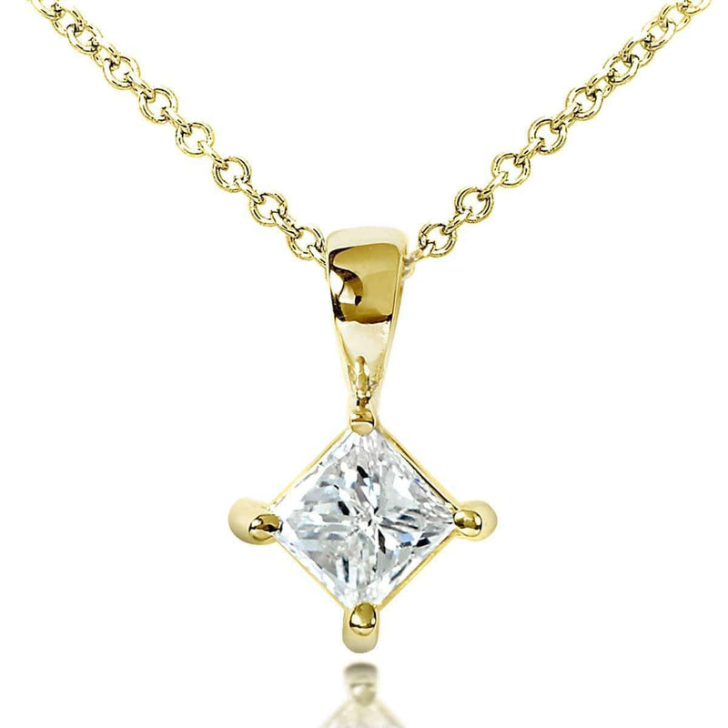 Kobelli Diamond Solitaire 1/2 Carat Pendant in 14K Gold 7222-50DMY