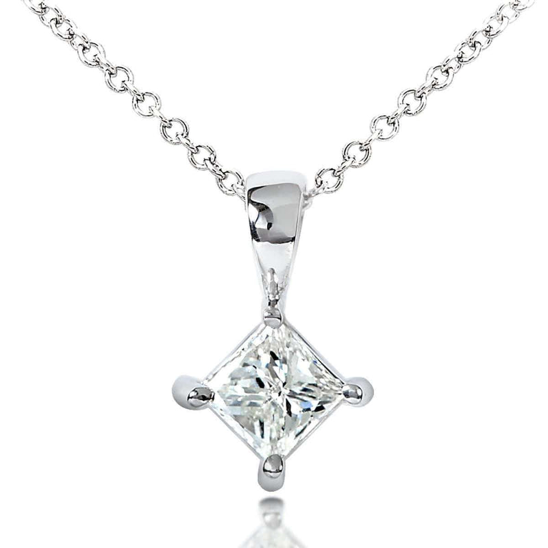 Kobelli Diamond Solitaire 1/2 Carat Pendant in 14K Gold 7222-50DMW