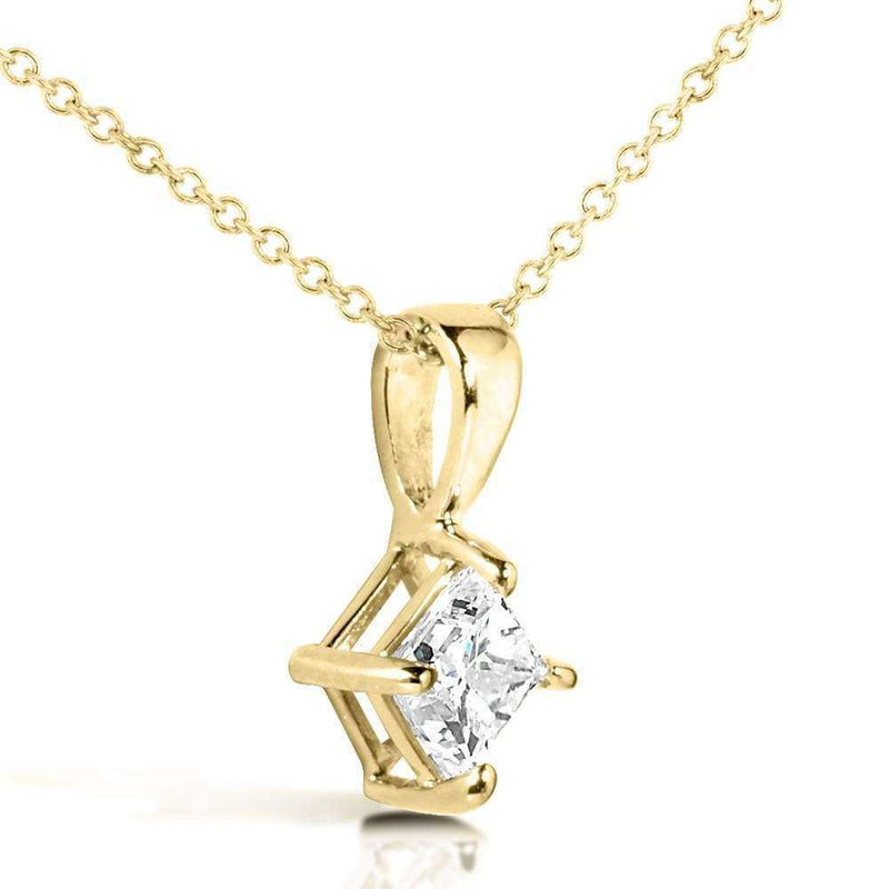 Kobelli Diamond Solitaire 1/2 Carat Pendant in 14K Gold