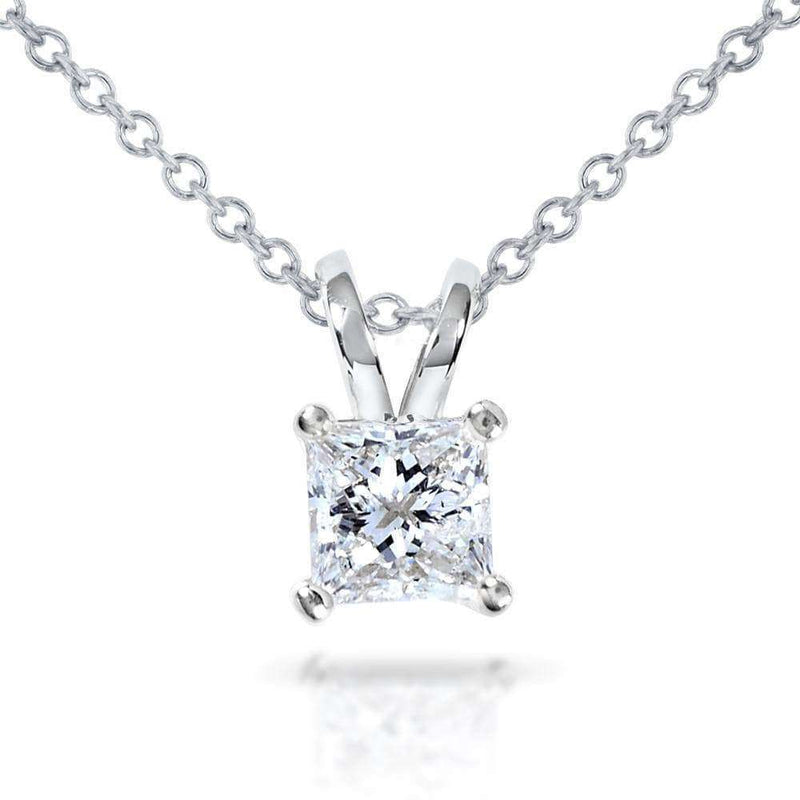 Kobelli Diamond Solitaire Pendant 1/2 carat in 14K Gold (G-H, VS1-VS2) 7223-50DM_WG